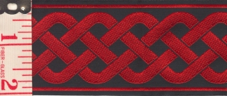3-Strand                           Celtic Braid, Red/Black