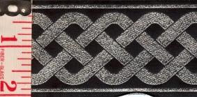 Trim: 3 Strand Celtic Braid, (Silver/Black)