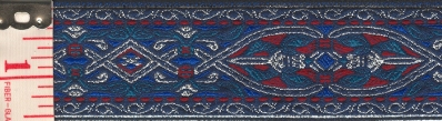 florentine                           silver blue red trim
